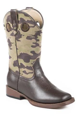 Roper Kids (9-3) Footwear Camo Cowboy Boots - Urban Western Wear