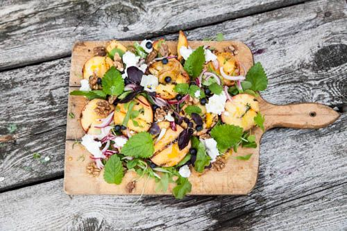 Peach and Nectarine Salad