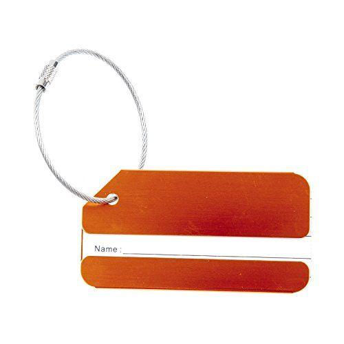 TOOGOO(R)Metal vacances Voyage bagages Bagages Valise ID Tag Boucle Adresse Porte-etiquette – Jaune: 100% tout neuf et qualite Materiel:…