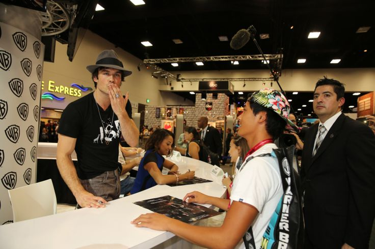 Ian Somerhalder - TVD Comic-Con Signing Session - 26/07/14