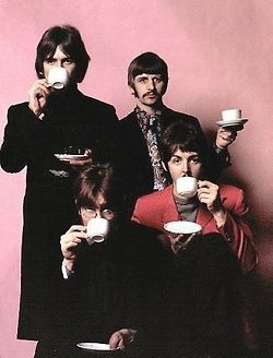 THE BEATLES... tea anyone? Eating well? Yes, tea is good for you.
