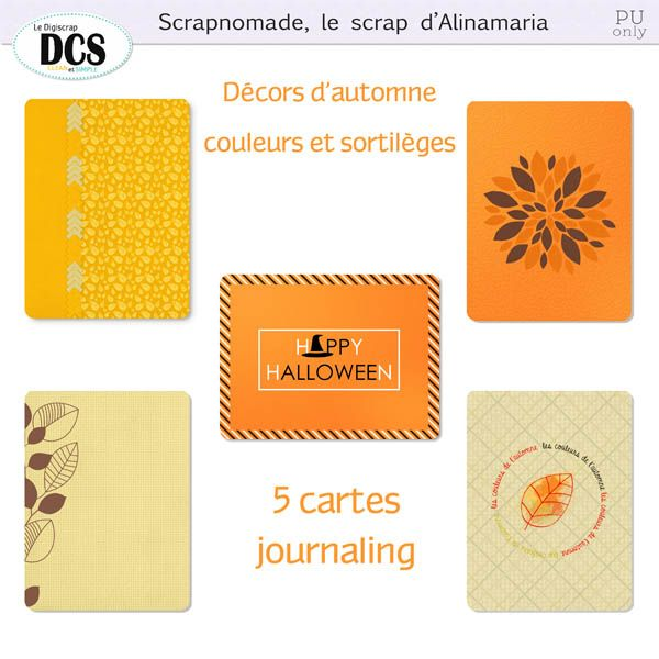 Free Autumn Journal Cards