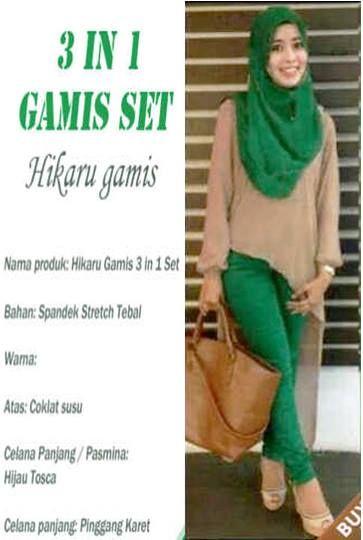 Hikaru Set ( Blouse Asimetri, Celana Panjang +Pashmina ) Bahan Spandek     Fit L, celana pinggang karet     Harga : Rp. 96.500,-/set     Kode Produk / Product Code : M4495