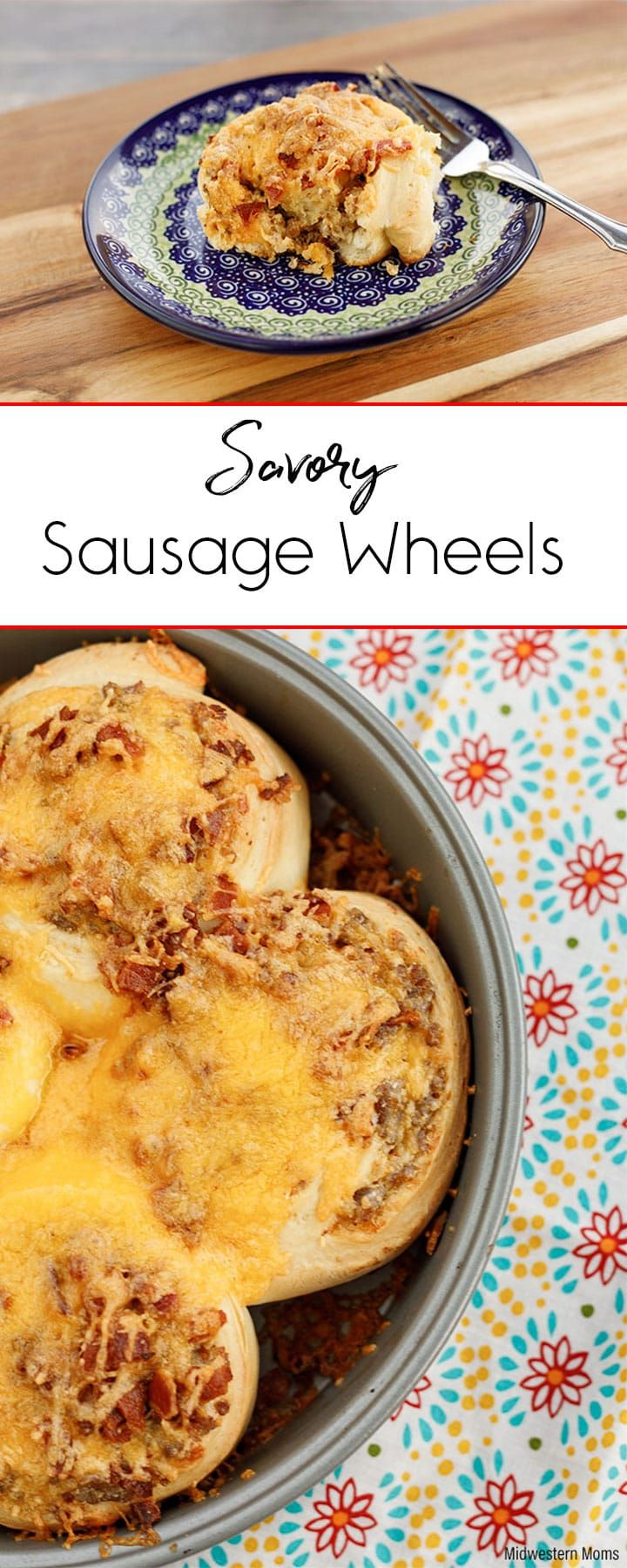 Delicious Sausage Wheels with Italian Sausage, bacon, sour cream and cheese. YUM! Perfect for dinner or breakfast. #ad @jvillesausage
