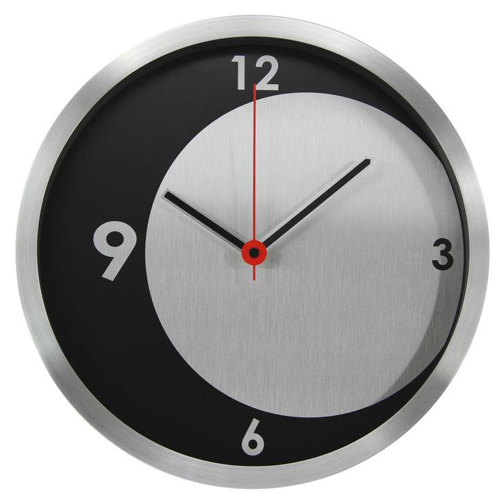 12 aluminum modern contemporary wall clock with crescent moon design unbranded contemporary - Modern Designer Wall Clocks