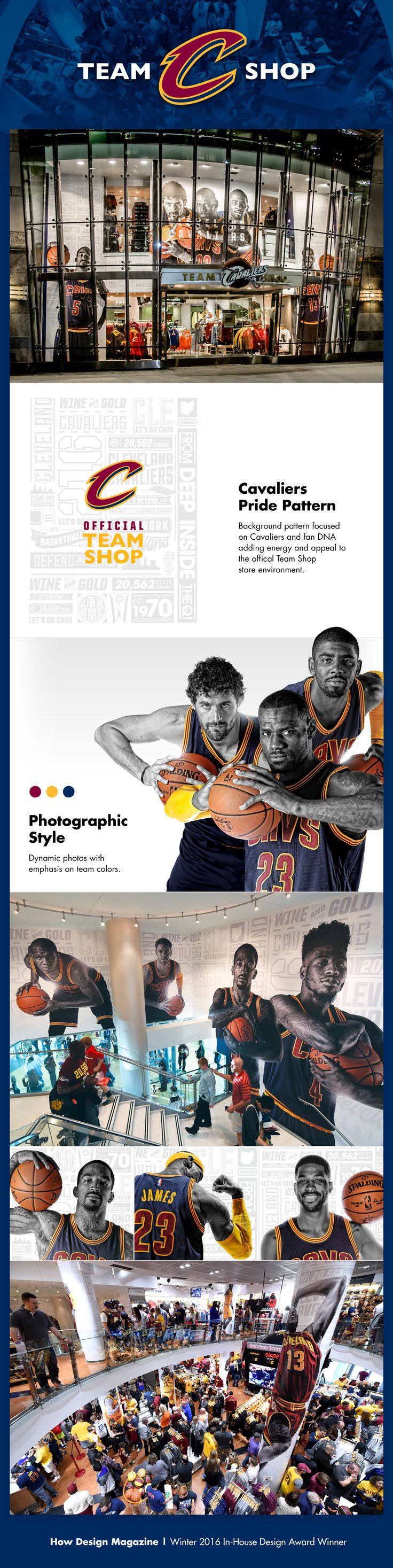 Cavaliers Team Shop Graphics on Behance