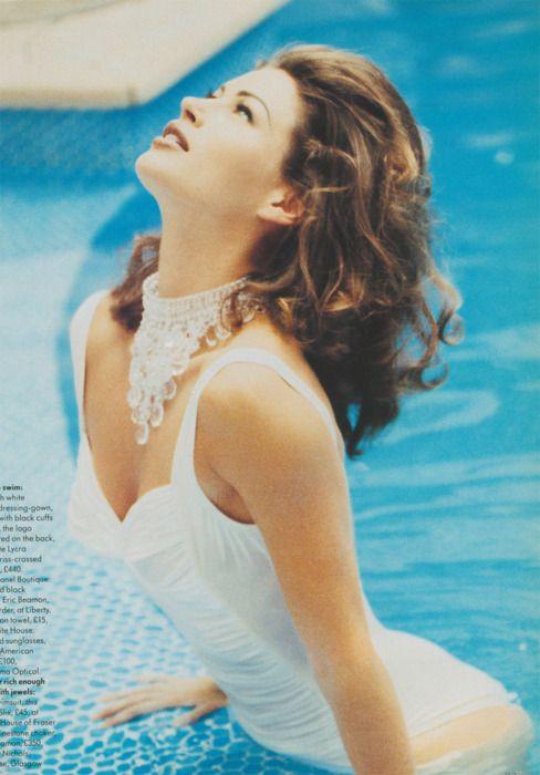 Vogue UK, August 1992 Model : Carre Otis Makeup : Micki GardnerHair : Guido Palau for Toni & Guy