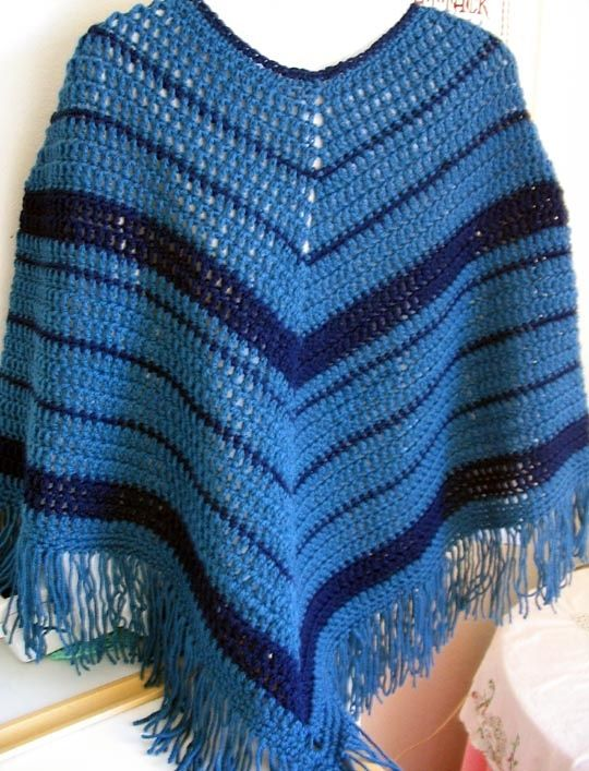 Easy Crochet Poncho Pattern By Kathy North Crochet