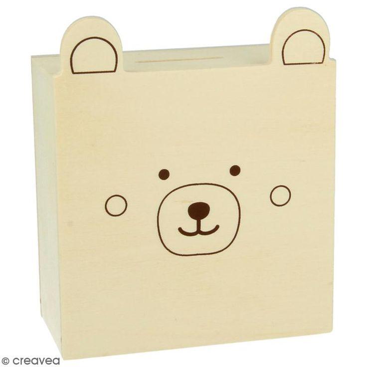 Compra nuestros productos a precios mini Hucha osito de madera - 10 x 5 x 12 cm - Entrega rápida, gratuita a partir de 89 € !