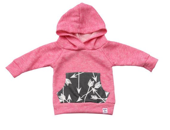 Hey, I found this really awesome Etsy listing at https://www.etsy.com/listing/209233658/pink-arrow-hoodie-baby-girl-hoodie-baby