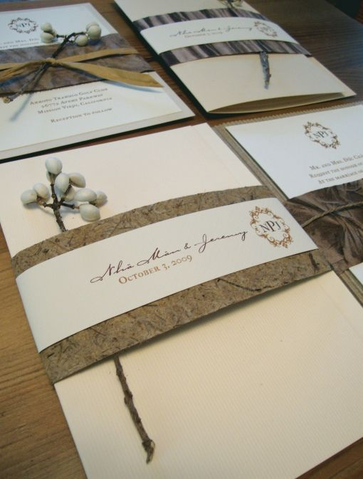 Handmade paper invitations