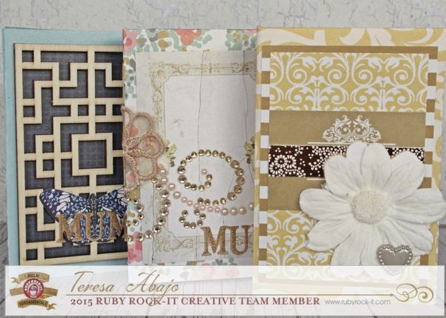 Oriental Chic embellishments, card set, with our florals and bling!