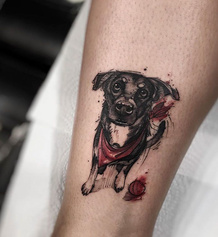 Some dog owners love their dogs so much they can't think of a better way to pay tribute to them than making a tattoo. Colorful and minimalistic, origami and photo-quality, these tattoos are very different,
