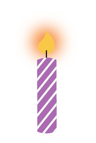Purple Birthday Candle Clipart 54 best images about V...