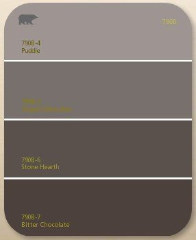 chocolate brown gray paint | : the dark brown paint color we chose was Behr's Bitter Chocolate ...
