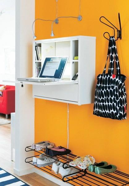 Ikea Fold Down Desk Small Space Interior Design