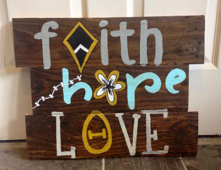 Kappa Alpha Theta pallet #faith #hope #love thanks brooke!!