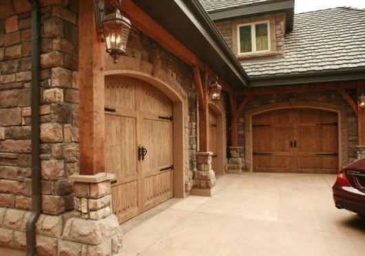 15 best images about garage doors on pinterest 3 car for Best wood for garage doors