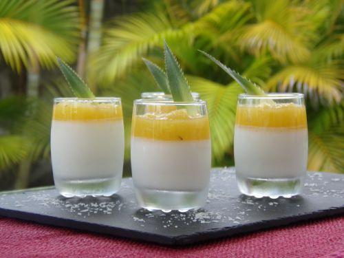 Panna Cotta au coulis d'ananas - Patio'nnement cuisine