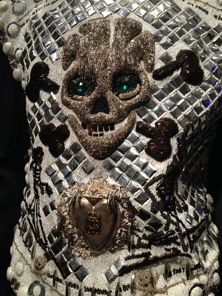 Jean Paul Gaultier close up embroidery - Jean Paul Gaultier at the Barbican london