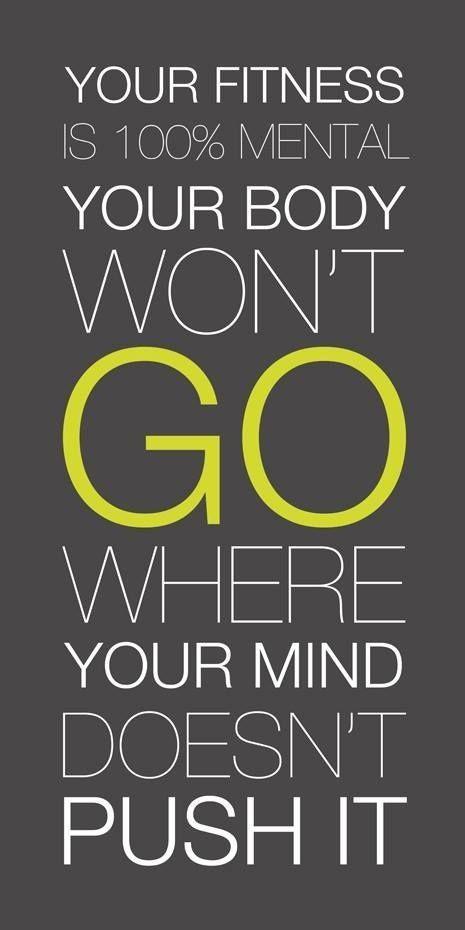 It's all in your head. #CanDoAttitude #PositivityEqualsResults #WinningFromTheStart #Diet