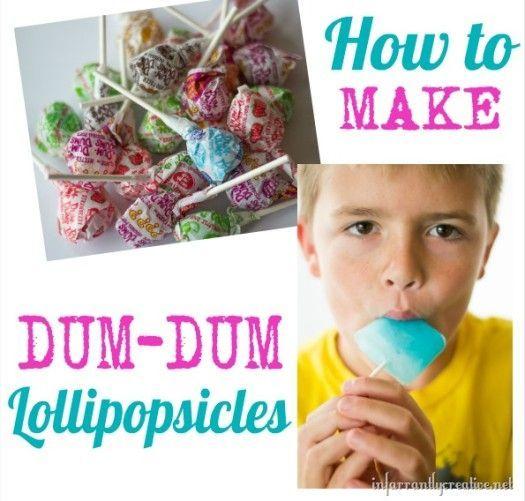 How to make Dum Dum lollipop popsicles - super easy and kids LOVE them!
