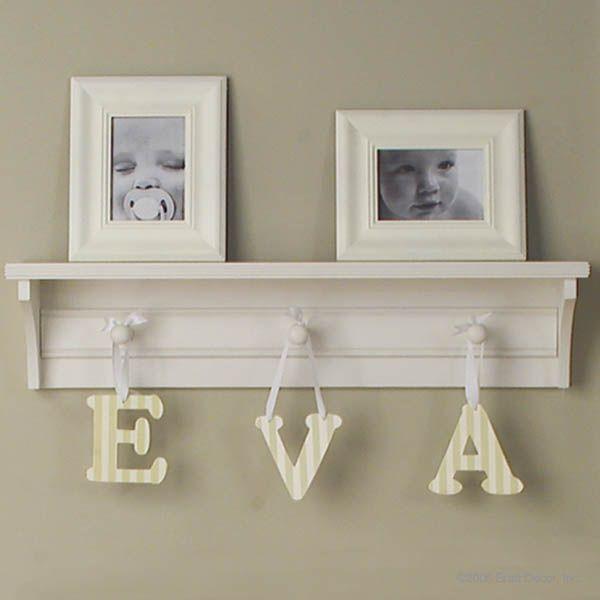 shelf with hooks nursery 2
