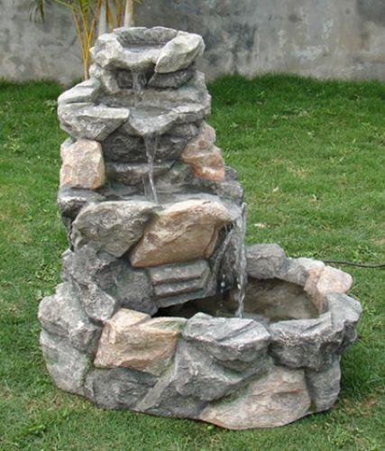 Rock Creek Three Tier Outdoor Water Fountain