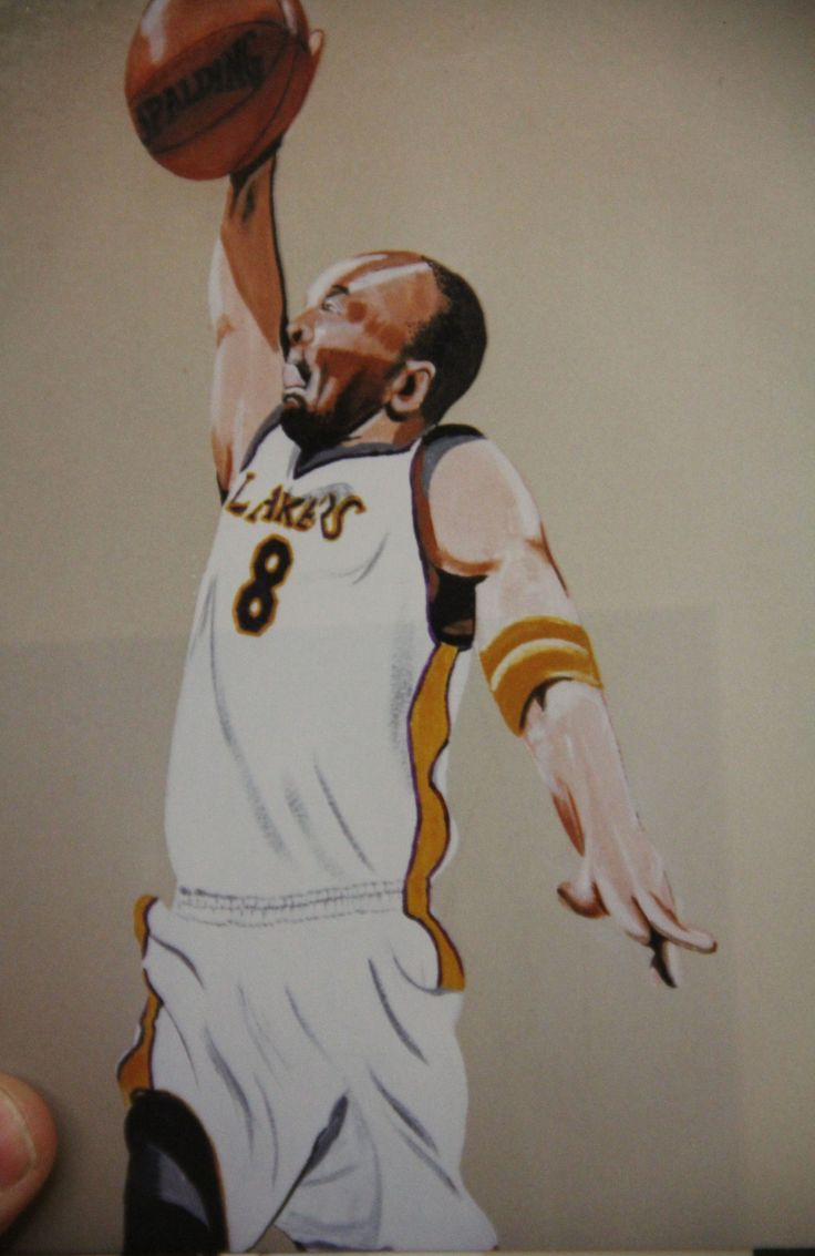 54 best lakers images on pinterest los angeles lakers kobe manager of lakers had me paint in their sons bedroom wall muralssons