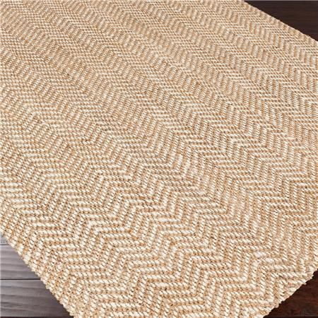 Herringbone Soft Jute Natural Rug  Herringbone Soft Jute Natural Rug With the good looks of a man's tweed sport coat and the natural texture of woven jute fibers, these herringbone rugs go from the coastal cottage to the urban loft. Slate Blue, Burgundy or Gray with cream or Tan with Khaki. 100% jute.  5x8 ~ $340