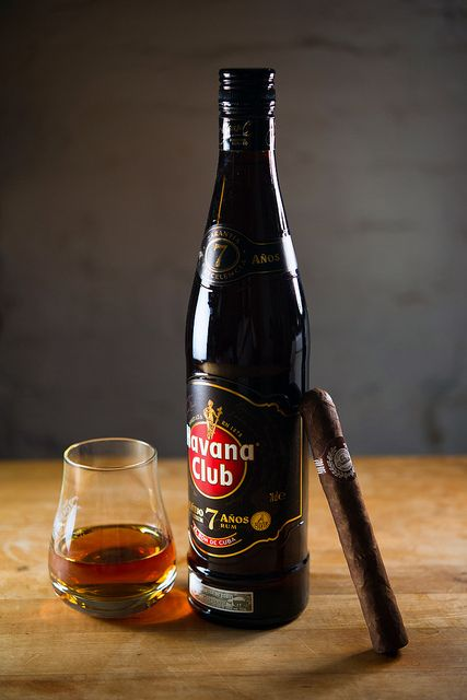 Cuban Cigar with some Havana Club rum | Flickr - Photo Sharing! // >Just kick back and relax...