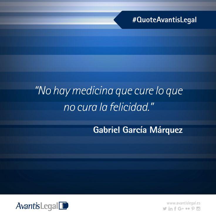 Empezamos esta última semana de febrero trayendo un nuevo #QuoteAvantisLegal, en este caso es el turno de una frase célebre de Gabriel García Márquez