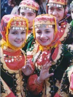 Turkic Azeri Muslim children from Azerbaijan