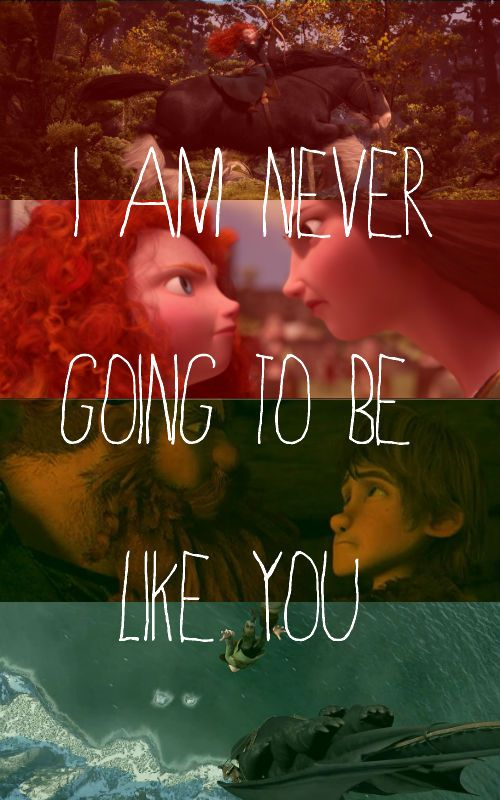 Merida and Hiccup rebelling