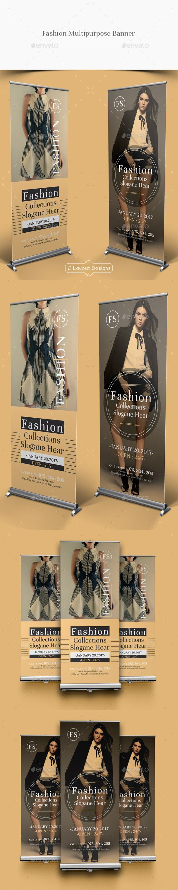 Fashion Multipurpose Rollup Banner — Photoshop PSD #procedure • Download ➝ https://graphicriver.net/item/fashion-multipurpose-rollup-banner/19203168?ref=pxcr