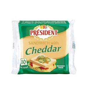 Président Sandwich with cheddar