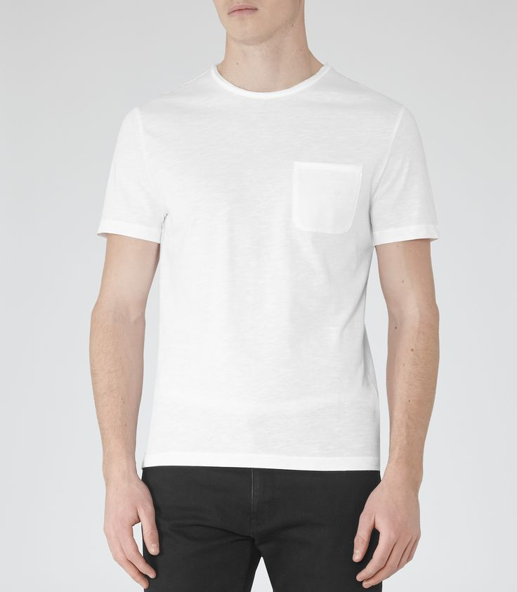 Reiss White Raw Edge T-shirt