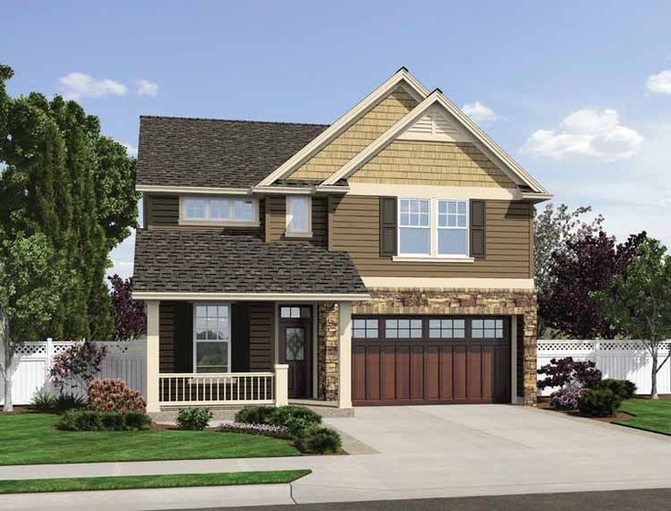 1000 ideas about narrow lot house plans on pinterest for Cost to build craftsman home