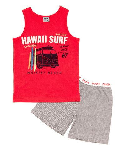 OUCH  - Hawaii Surf Singlet PJ's - summer 2014 from www.pyjamarama.com.au