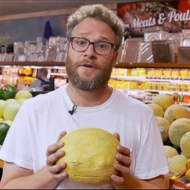 Movies: Seth Rogen pulls grocery store prank with talking food to promote Sausage Party