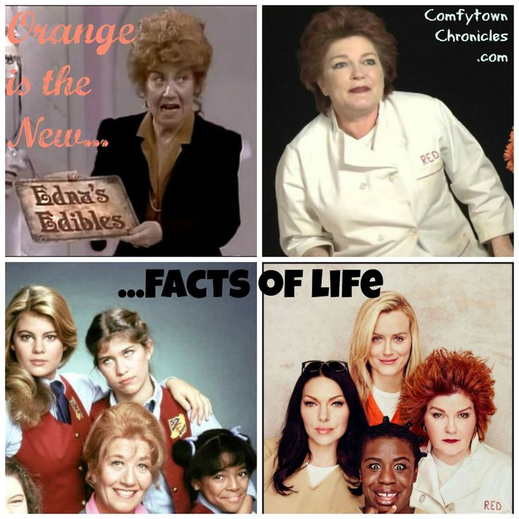 Mashup of Orange Is The New Black & Facts of Life. No, really, with words. #OITNB