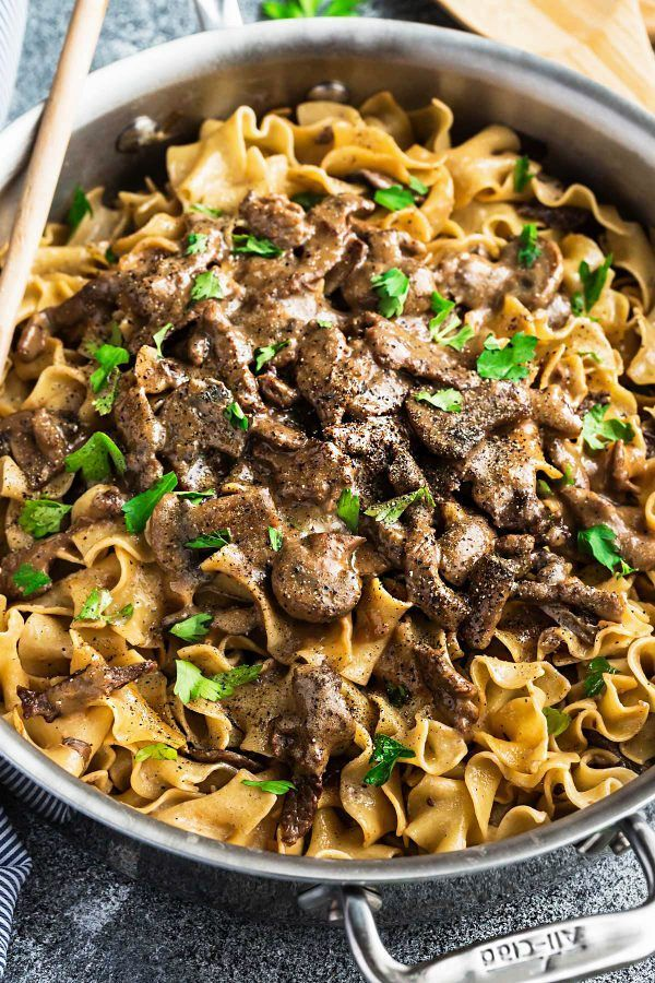One Pot Beef Stroganoff - all the flavors you love about this classic comfort food made easier in just ONE pan! Simple & perfect for those busy weeknights!