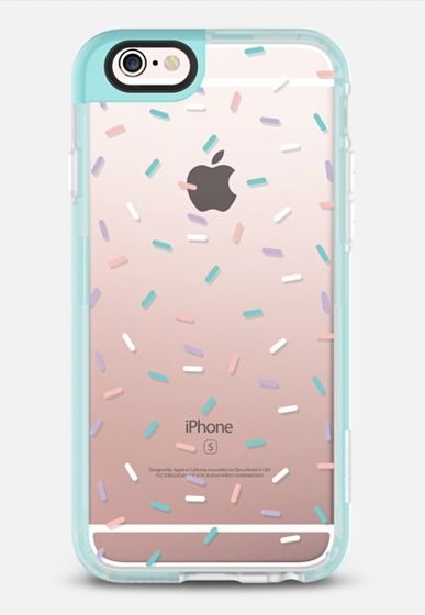 Casetify iPhone 7 Case and Other iPhone Covers - Pastel Confetti Sprinkles iPhone 6s Case by Ruby Ridge Studios | #Casetify