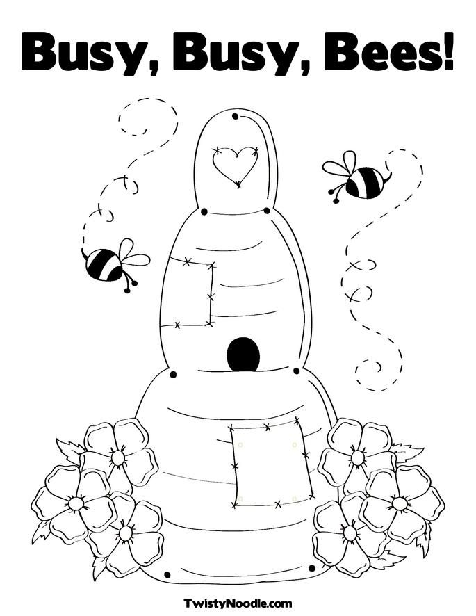 beehive coloring pages - photo#34