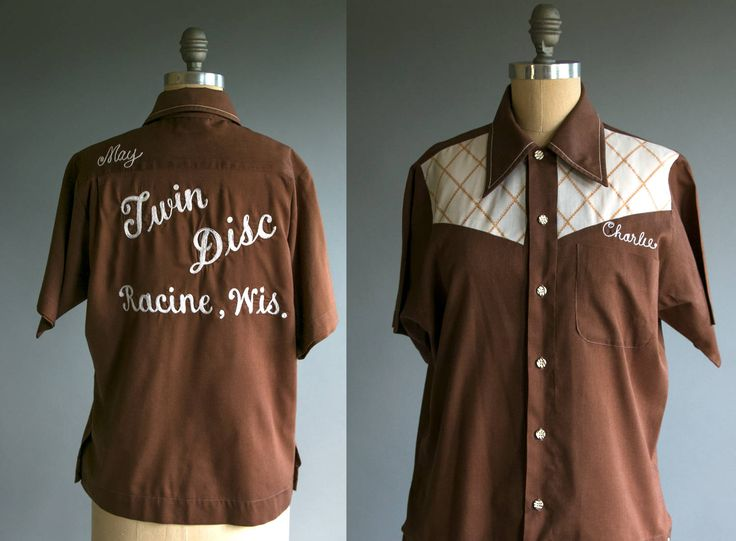 Vintage 1950's Charlie Chainstitch Twin Disc Racine Wisconsin Button Down Shirt, Americana, Work Wear, Unisex Adults by thiefislandvintage on Etsy