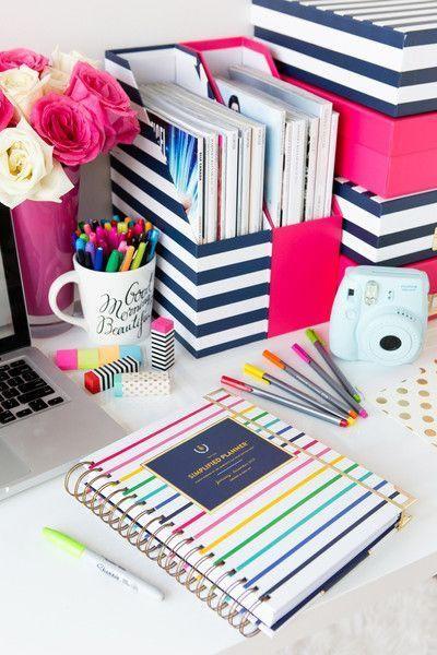 15 ideas con estilo para organizar nuestro escritorio