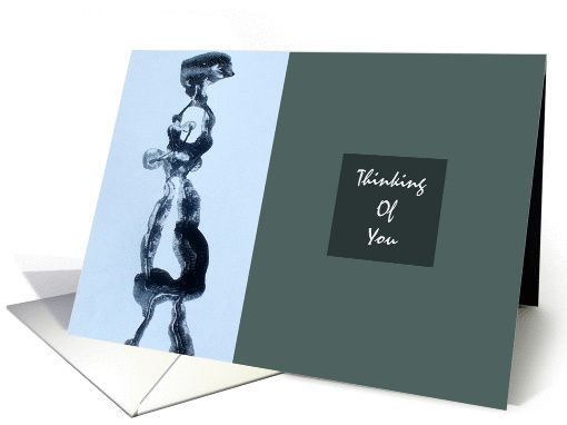 Strolling - Blank Abstract Art  Note Card