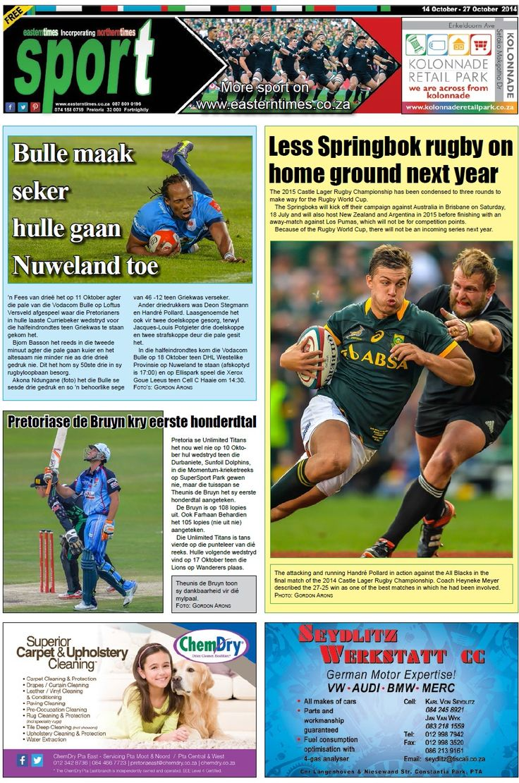 Sport page 14 - 27 October