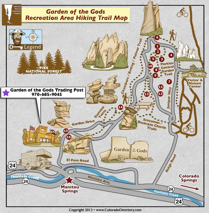 Garden of the Gods Hiking Trail interactive map
