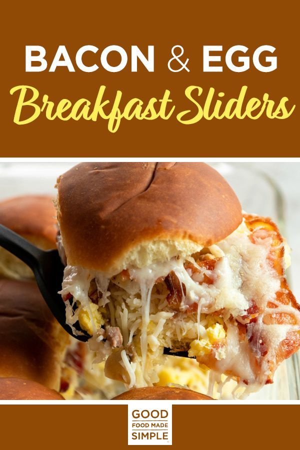 Jun 30, 2020 – Bacon and Egg Breakfast Sliders – Delicious breakfast sliders filled with uncured bacon, eggs, potatoes a…